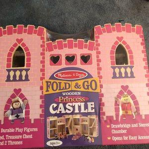 Other - Melissa & Doug fold n go princess castle